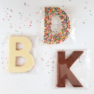 SPOTTED! Letter chocolate